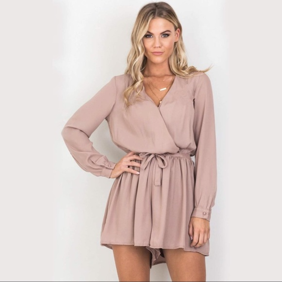 355dd6f63f6 Blush Long-Sleeved Romper